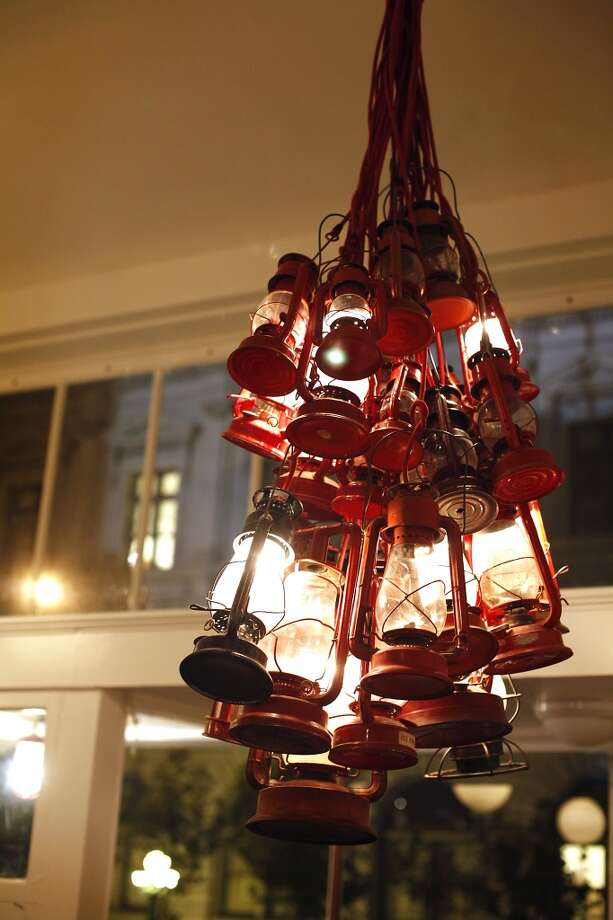 Lanterns form a chandelier at TBD. Photo: Sarah Rice, Special To The Chronicle