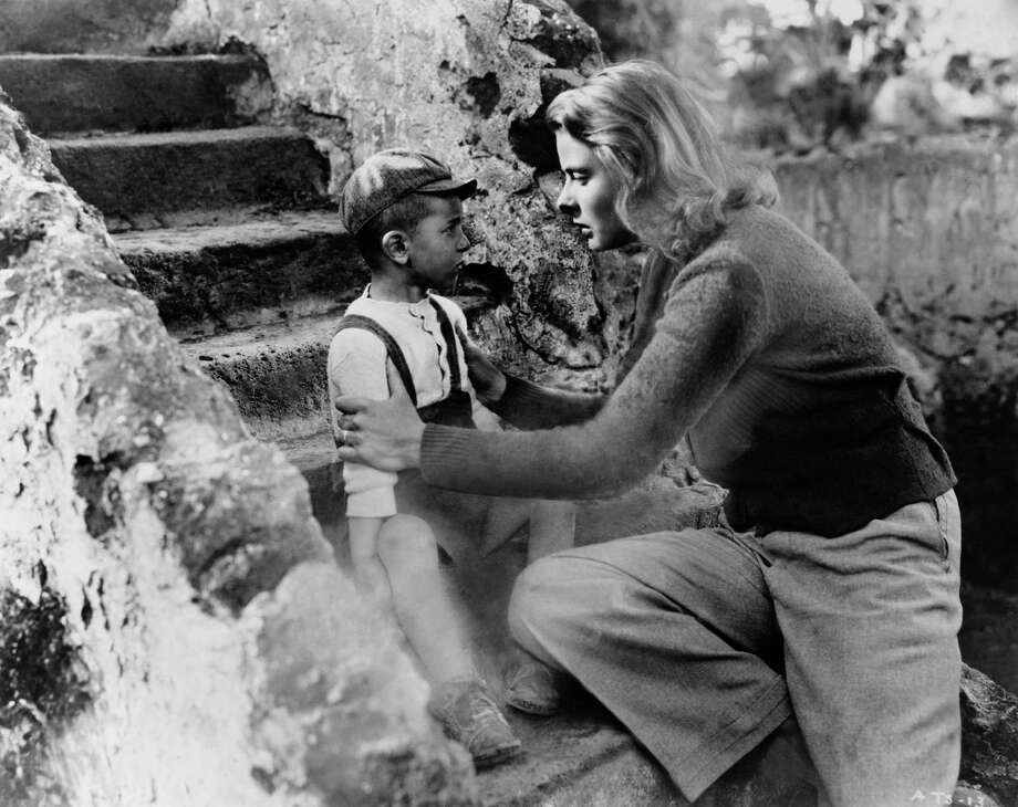 "Ingrid Bergman (above, confronting a tyke) made three films with Roberto Rossellini, among them ""Stromboli"" in 1950. Photo: Keystone-France / Gamma-Keystone Via Getty Images"
