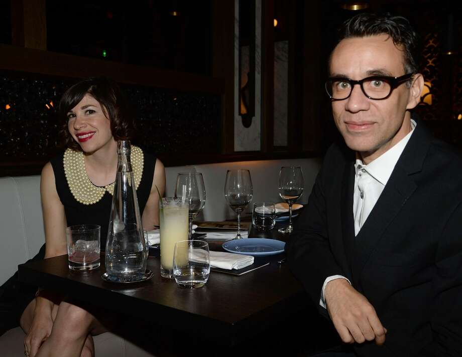 BEVERLY HILLS, CA - NOVEMBER 07:  Actors Carrie Brownstein and Fred Armisen attend the Flaunt Magazine November issue party at Hakkasan on November 7, 2013 in Beverly Hills, California.  (Photo by Chris Weeks/Getty Images for Hakkasan Beverly Hills) Photo: Chris Weeks