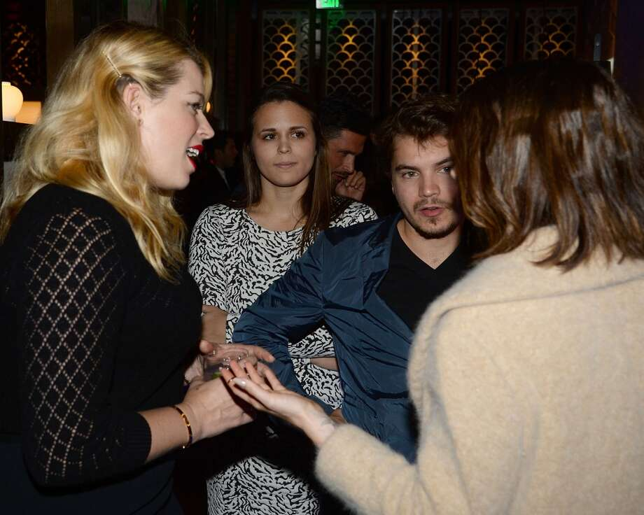 Actors Amanda de Cadenet and Emile Hirsch attend the Flaunt Magazine November issue party at Hakkasan on November 7, 2013 in Beverly Hills, California. Photo: Chris Weeks, Getty Images For Hakkasan Beverly Hills