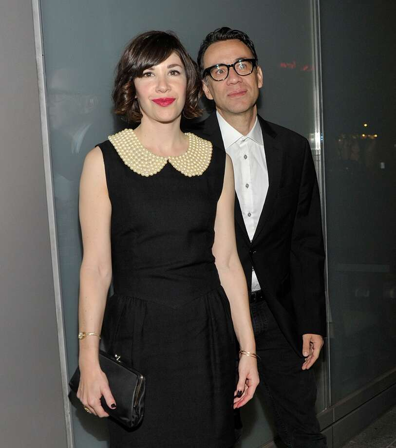 (L-R) Actors Carrie Brownstein and Fred Armisen attend the Flaunt Magazine En Garde! Issue launch party with Selena Gomez and Amanda De Cadenet at Hakkasan Restaurant Beverly Hills on November 7, 2013 in Beverly Hills, California. Photo: John M. Heller, Getty Images