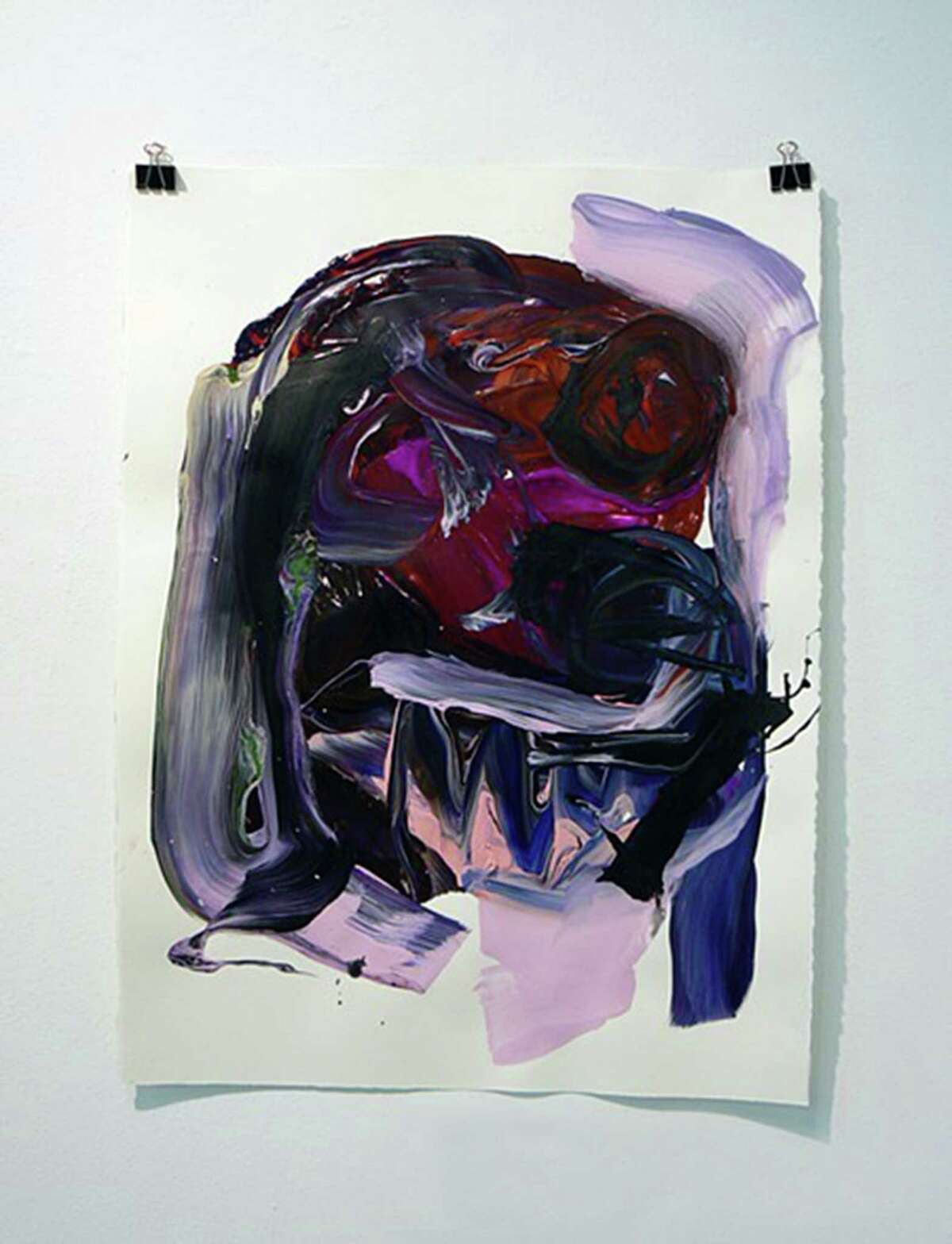 """""""Yow blue and pink"""" is among the works by Raychael Stine on view in her first Houston exhibit, """"a little ways away from everywhere,"""" on view through Dec. 21 at Art Palace."""
