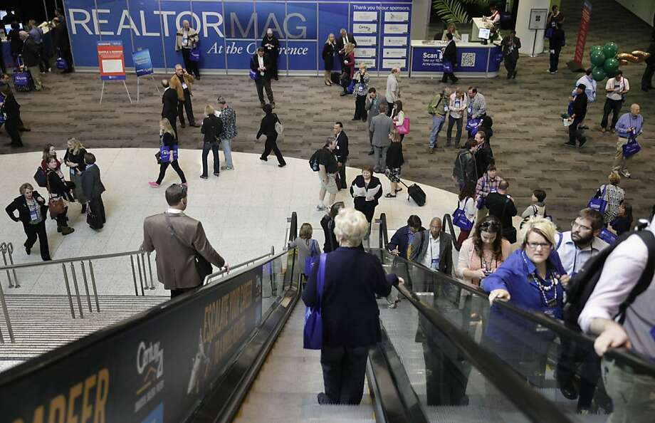 About 21,000 real estate professionals are attending the four-day National Association of Realtors conference at Moscone Center. Hillary Rodham Clinton is scheduled to deliver a keynote speech on Saturday. Photo: Lea Suzuki, The Chronicle