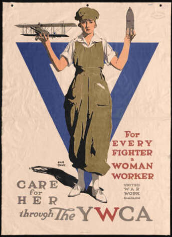 Adolph Treidler created this poster for the United War Work Campaign, YMCA, around 1918. Photo: Washington State University