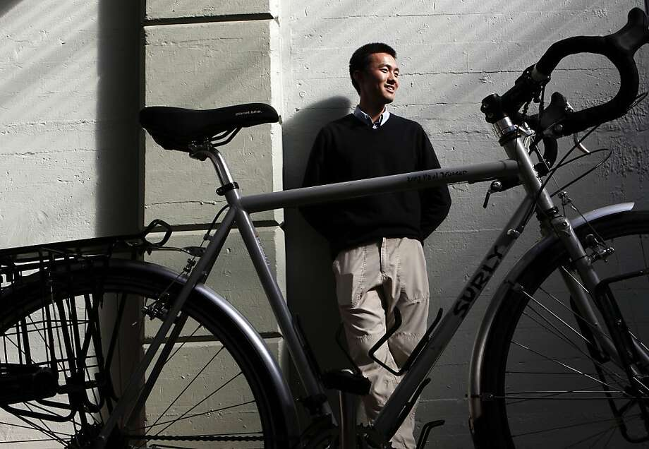 Zilong Wang's bicycle was stolen in S.F. and then recovered, along with his faith in humanity. Photo: Michael Macor, The Chronicle