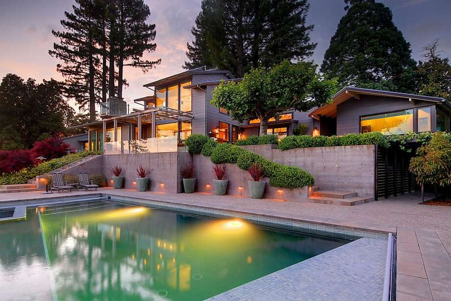 The main house is a five-bedroom midcentury modern. Photo: Wayne Capili