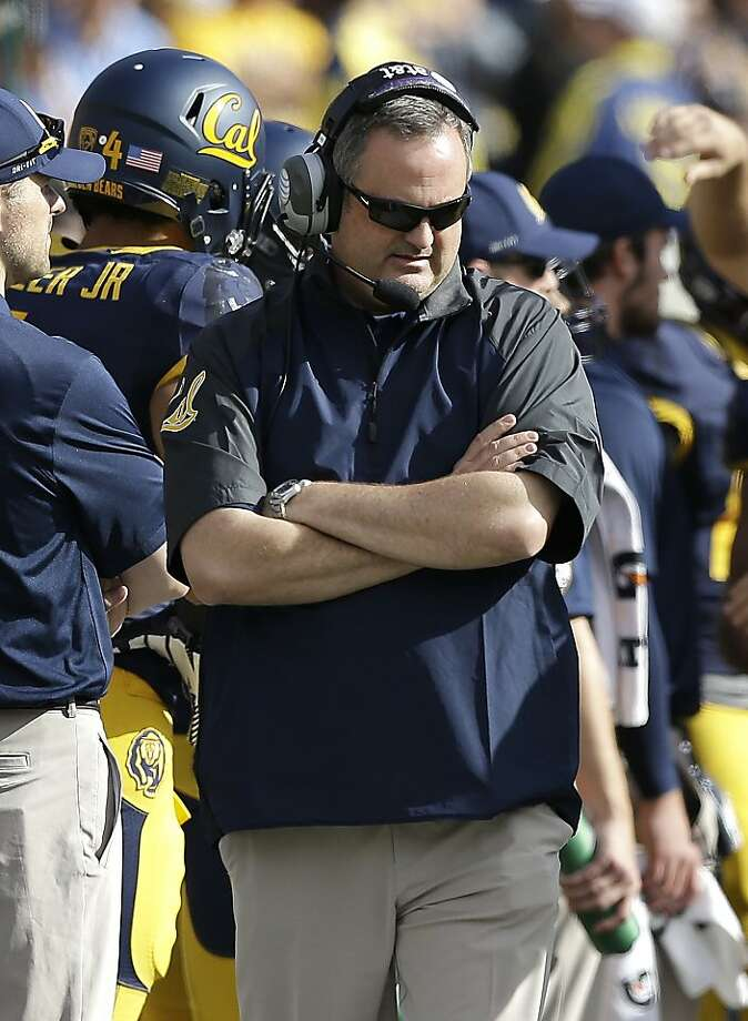 First-year Cal head coach Sonny Dykes says he's been pleased with how hard his Bears continue to work in practice during the week regardless of the team's poor record on the field. Photo: Jeff Chiu, Associated Press
