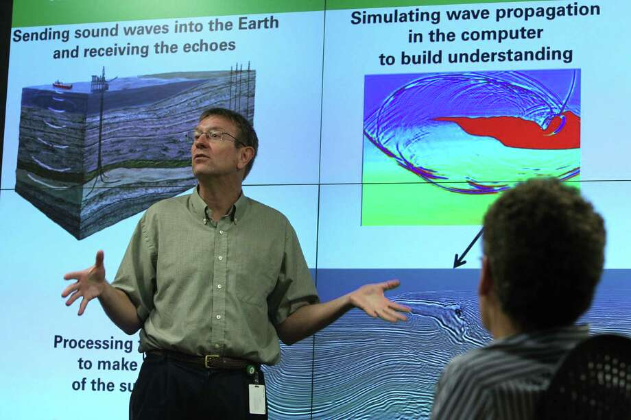 "John Etgen, BP's distinguished adviser for seismic imaging, says without new  technology  ""today we would be effectively drilling in the dark."" Photo: Mayra Beltran / Houston Chronicle"