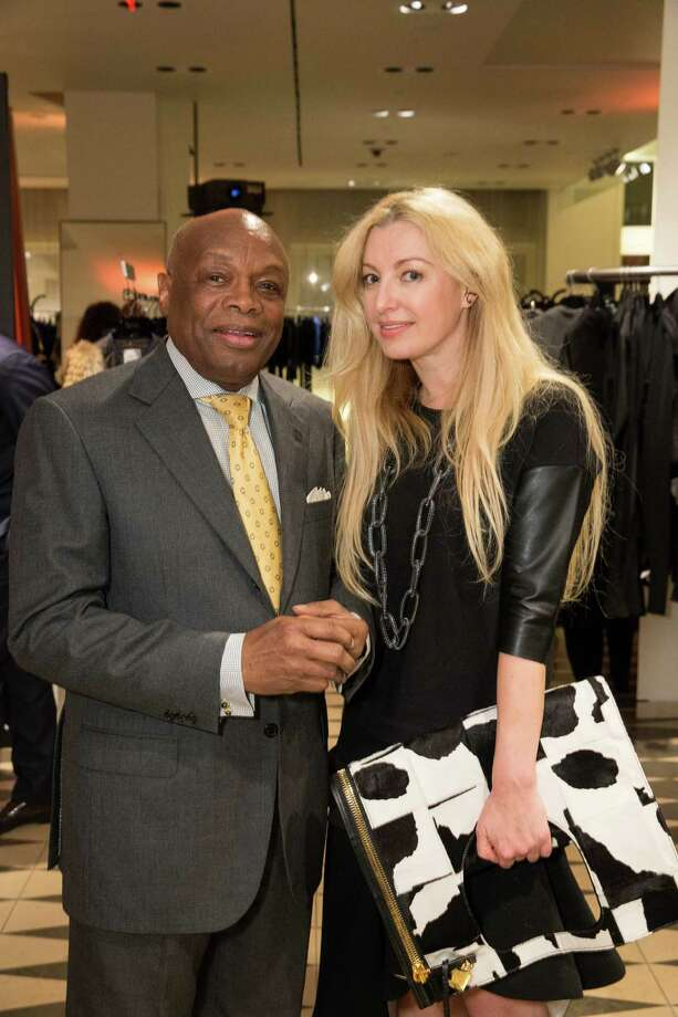 Willie Brown and Sonya Molodetskaya at Barneys New York in San Francisco to honor artist Leo Villareal and The Bay Lights on November 7, 2013. Photo: Drew Altizer Photography/SFWIRE, Drew Altizer Photography / ©2013 by Drew Altizer, all rights reserved