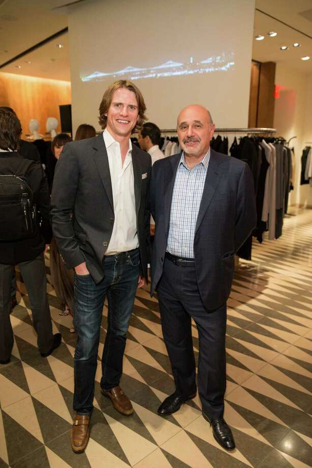 Brad Murray and Richard Cinciamilla at Barneys New York in San Francisco to honor artist Leo Villareal and The Bay Lights on November 7, 2013. Photo: Drew Altizer Photography/SFWIRE, Drew Altizer Photography / ©2013 By Drew Altizer all rights reserved