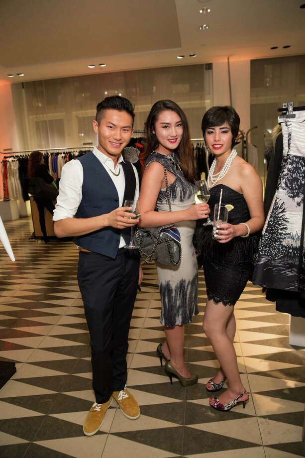 Kyle Guo, Chianti Huang and Monique Martinez at Barneys New York in San Francisco to honor artist Leo Villareal and The Bay Lights on November 7, 2013. Photo: Drew Altizer Photography/SFWIRE, Drew Altizer Photography / ©2013 By Drew Altizer all rights reserved