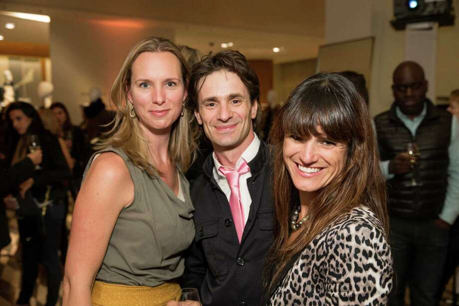 Carla Davis, Pascal Molat and Genevieve Molat at Barneys New York in San Francisco to honor artist Leo Villareal and The Bay Lights on November 7, 2013. Photo: Drew Altizer Photography/SFWIRE, Drew Altizer Photography / ©2013 By Drew Altizer all rights reserved