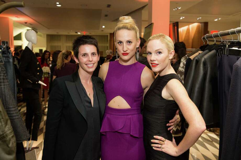 Jessica Silverman, Elizabeth McGrath and Cara Michelle Connor at Barneys New York in San Francisco to honor artist Leo Villareal and The Bay Lights on November 7, 2013. Photo: Drew Altizer Photography/SFWIRE, Drew Altizer Photography / ©2013 By Drew Altizer all rights reserved