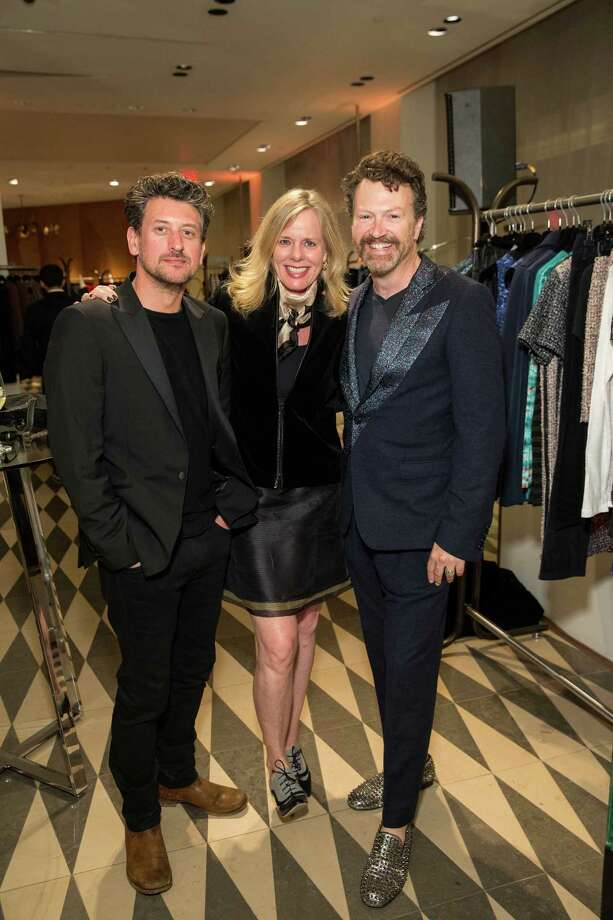 Conrad Leach, Susan McLaughlin and Paul D'Orlean at Barneys New York in San Francisco to honor artist Leo Villareal and The Bay Lights on November 7, 2013. Photo: Drew Altizer Photography/SFWIRE, Drew Altizer Photography / ©2013 By Drew Altizer all rights reserved