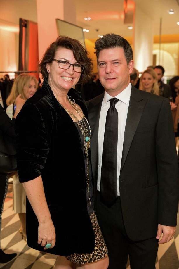 Amy Critchett and Leo Villareal at Barneys New York in San Francisco to honor the artist's The Bay Lights on November 7, 2013. Photo: Drew Altizer Photography/SFWIRE, Drew Altizer Photography / ©2013 By Drew Altizer all rights reserved