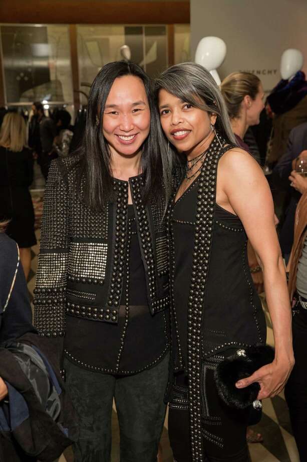 Carolyn Chang and Deepa Pakianathan at Barneys New York in San Francisco to honor artist Leo Villareal and The Bay Lights on November 7, 2013. Photo: Drew Altizer Photography/SFWIRE, Drew Altizer Photography / ©2013 by Drew Altizer, all rights reserved