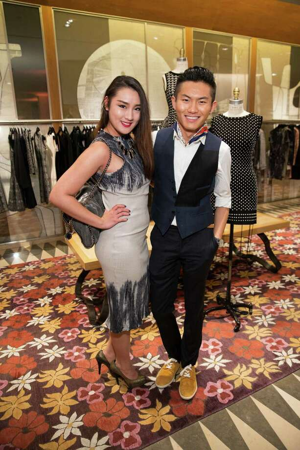 Chianti Huang and Kyle Guo at Barneys New York in San Francisco to honor artist Leo Villareal and The Bay Lights on November 7, 2013. Photo: Drew Altizer Photography/SFWIRE, Drew Altizer Photography / ©2013 by Drew Altizer, all rights reserved