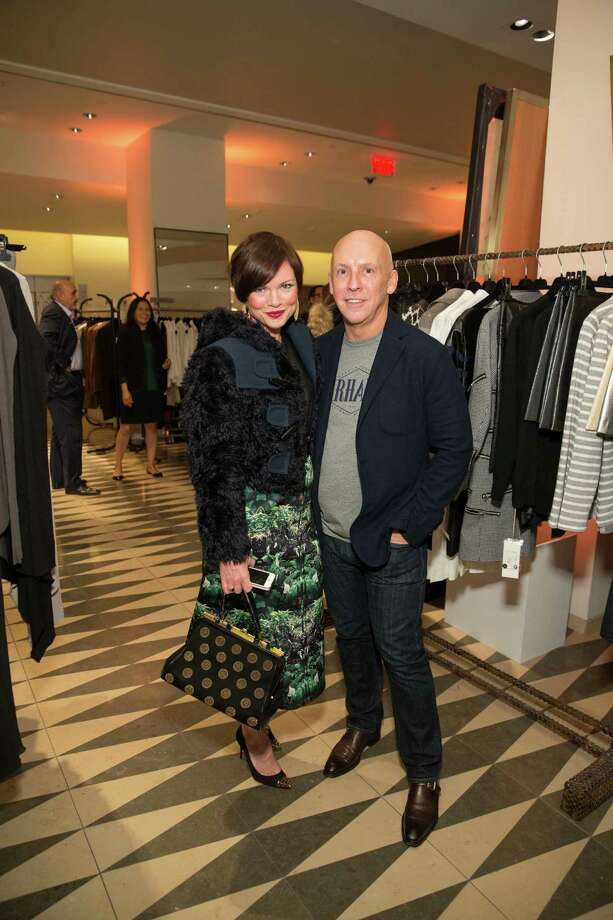 Kelly Sparks and Michael Ingram Jones at Barneys New York in San Francisco to honor artist Leo Villareal and The Bay Lights on November 7, 2013. Photo: Drew Altizer Photography/SFWIRE, Drew Altizer Photography / ©2013 by Drew Altizer, all rights reserved
