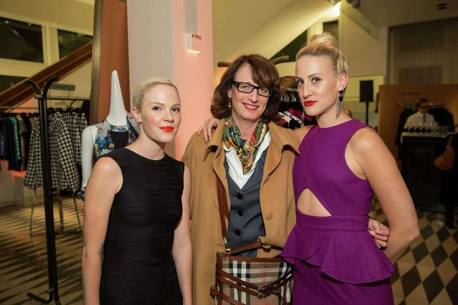 Cara Michelle Connor, Theo Schwabacher and Elizabeth McGrath at Barneys New York in San Francisco to honor artist Leo Villareal and The Bay Lights on November 7, 2013. Photo: Drew Altizer Photography/SFWIRE, Drew Altizer Photography / ©2013 by Drew Altizer, all rights reserved