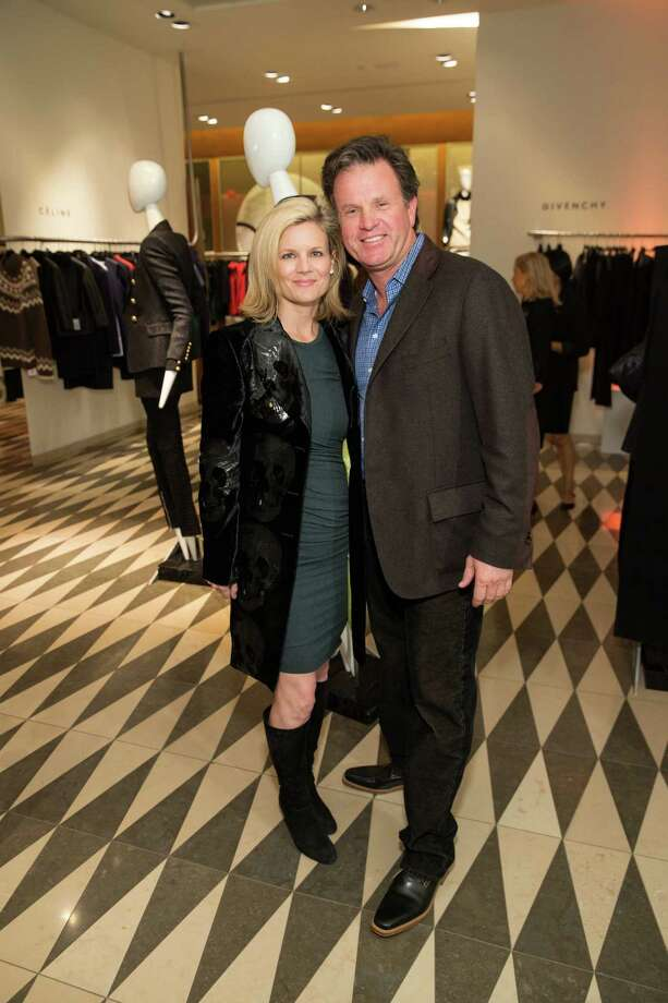 Amy van Prooyen and Matt Follett at Barneys New York in San Francisco to honor artist Leo Villareal and The Bay Lights on November 7, 2013. Photo: Drew Altizer Photography/SFWIRE, Drew Altizer Photography / ©2013 by Drew Altizer, all rights reserved
