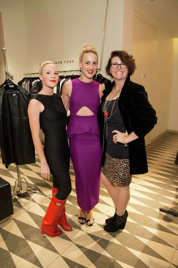 Cara Michelle Connor, Elizabeth McGrath and Amy Critchett at Barneys New York in San Francisco to honor artist Leo Villareal and The Bay Lights on November 7, 2013. Photo: Drew Altizer Photography/SFWIRE, Drew Altizer Photography / ©2013 by Drew Altizer, all rights reserved