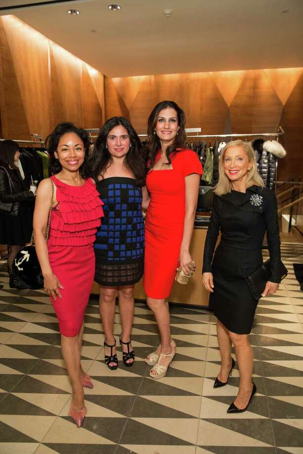 Tanya Powell, Minal Jethmal, Leyla Alhosseini and Shelley Gordon at Barneys New York in San Francisco to honor artist Leo Villareal and The Bay Lights on November 7, 2013. Photo: Drew Altizer Photography/SFWIRE, Drew Altizer Photography / ©2013 by Drew Altizer, all rights reserved