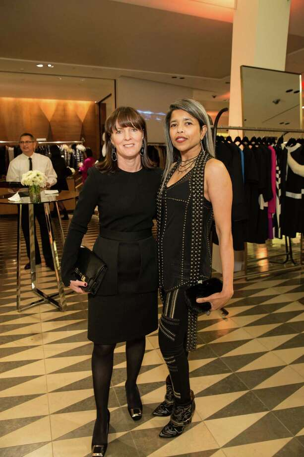 Allison Speer and Deepa Pakianathan at Barneys New York in San Francisco to honor artist Leo Villareal and The Bay Lights on November 7, 2013. Photo: Drew Altizer Photography/SFWIRE, Drew Altizer Photography / ©2013 by Drew Altizer, all rights reserved