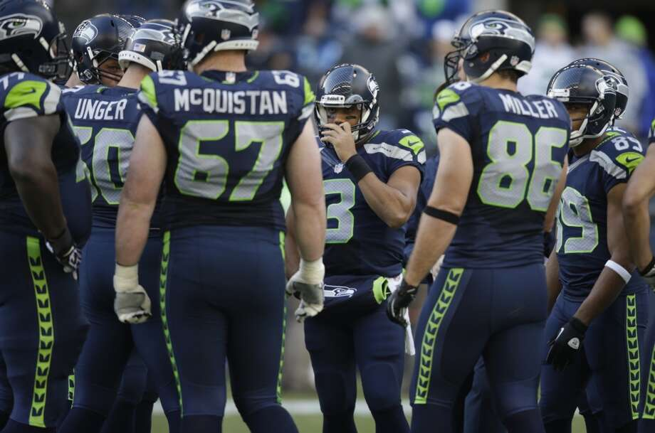 1. Improvement on the offensive line  It's been the story all season: Seattle needs its starting tackles back on the offensive line. But left tackle Russell Okung is still out and right tackle Breno Giacomini is doubtful for Sunday's game, though they have started practicing again with the team on a limited basis. As such, Wilson will yet again be without sufficient pass protection Sunday -- assuming the O-line keeps playing as poorly as it has for most of the season.  What's more, center Max Unger will miss the Falcons game after suffering a concussion against the Buccaneers last Sunday. He will be sorely missed; he brings great experience and knowledge to the O-line, directing his fellow linemen to watch out for whatever he sees coming  from the opposing defense. Seattle struggled in Houston and Indianapolis when Unger went down before (triceps).  Backup center Lemuel Jeanpierre will take Unger's place. Backups are already starting at both tackle positions, with Paul McQuistan moving over from left guard to Okung's spot and rookie Michael Bowie stepping up for Giacomini on the right side. James Carpenter has struggled all season as McQuistan's replacement at left guard, and at right guard J.R. Sweezy has continued to improve more slowly than Seahawks fans would like to see.  Their lack of pass protection is the key reason why Seattle is ranked just 27th out of 32 NFL teams in passing offense, averaging 200.8 passing yards per game. Yet Atlanta has a lower-tier passing defense, ranked 19th and allowing 248.6 passing yards per outing. Defensive end Osi Umenyiora leads the Falcons with 4.5 sacks, D-tackle Corey Peters is second with three (but is questionable for Sunday with a knee injury), and seven more Falcons have registered at least one sack. We'll see if Seattle's O-line can hold them back long enough to allow Wilson to establish a passing game ... for once. Photo: Stephen Brashear, Associated Press