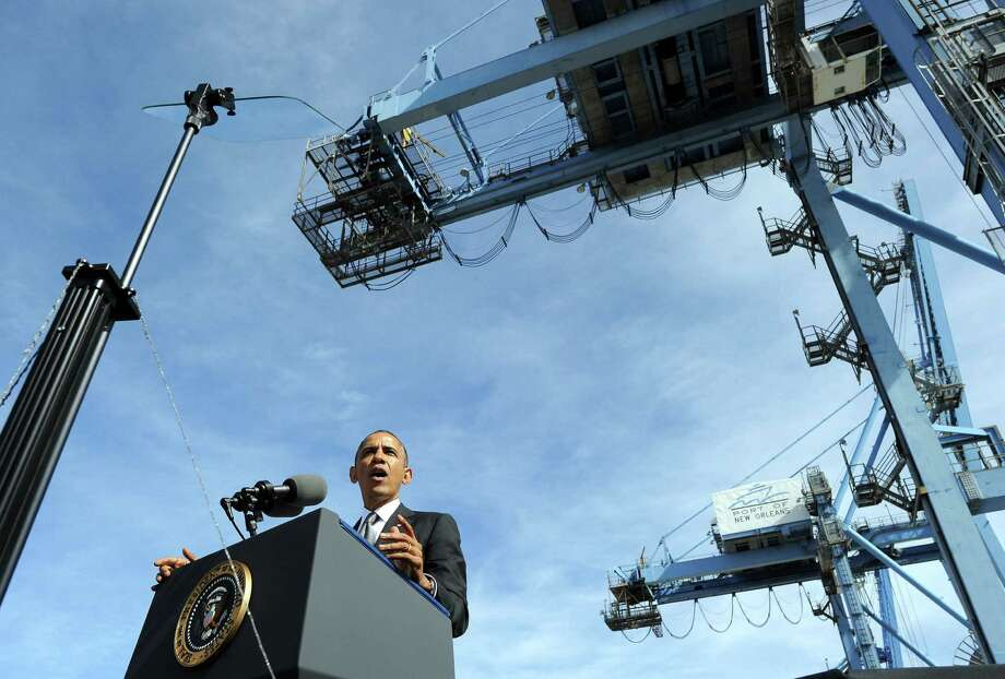In New Orleans, President Barack Obama also expressed regret and frustration again with the faulty website for his signature health law, but reiterated that it would be fixed. Photo: Jewel Samad / Getty Images