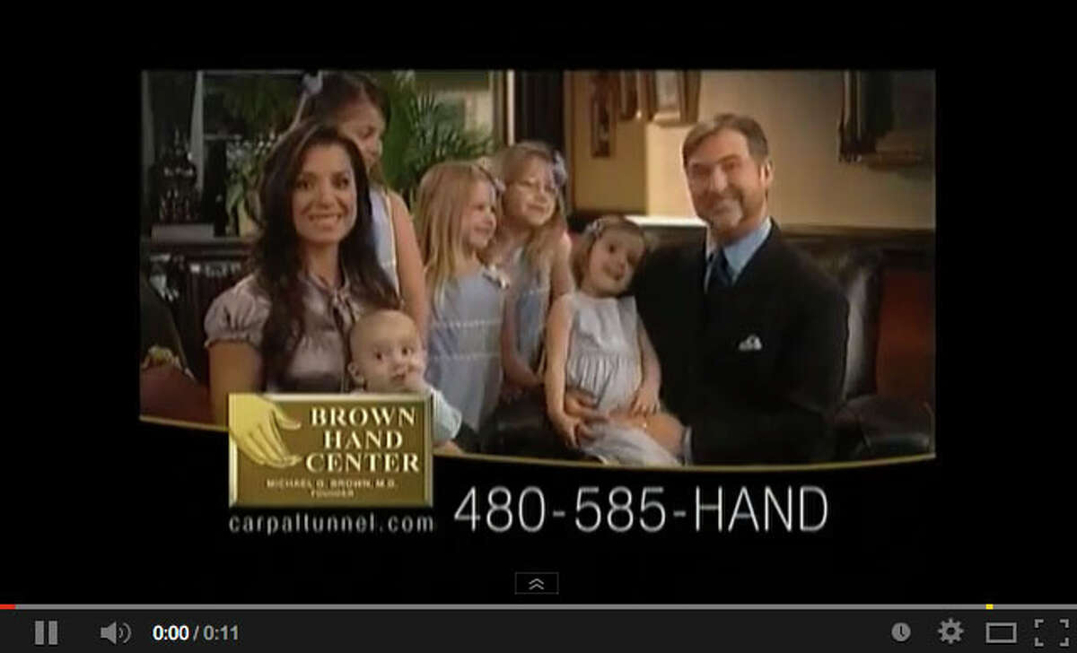 Michael Brown showcased his family in long-running television commercials for his carpal tunnel clinics.