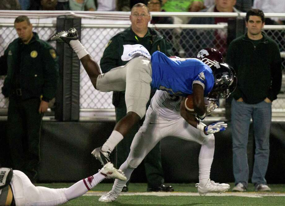 Clear Springs Joshua Washington returns the ball on a kickoff during the first half of a high school football game against Clear Creek at CCISD Veterans Stadium on Friday, Nov. 8, 2013, in League City. Photo: J. Patric Schneider, For The Chronicle / © 2013 Houston Chronicle