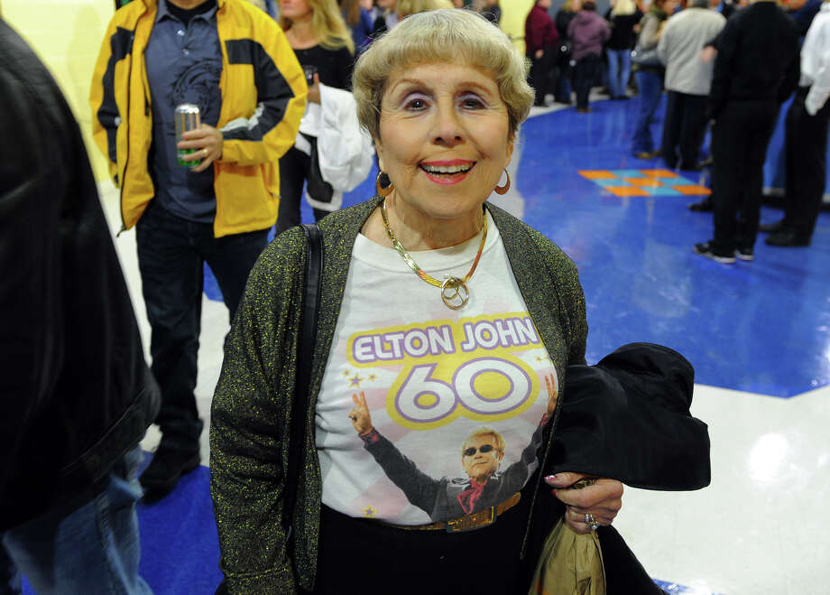 Lillian Wright, of Southbury, wears a concert T-shirt at the Sir Elton John concert at the Webster Bank Arena in downtown Bridgeport, Conn. on Friday November 8, 2013. Photo: Contributed Photo / Connecticut Post Contributed