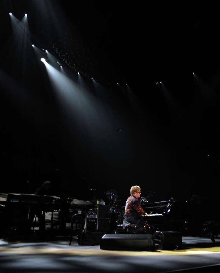 Sir Elton John performs in concert at the Webster Bank Arena in downtown Bridgeport, Conn. on Friday November 8, 2013. Photo: Contributed Photo / Connecticut Post Contributed