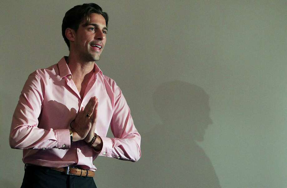 """Madison Hildebrand from Bravo's """"Million Dollar Listings Los Angeles"""" speaks during a luxury housing panel sponsored by Coldwell Banker United, Realtors at The Heights Villa Friday, Nov. 8, 2013, in Houston.  ( James Nielsen / Houston Chronicle ) Photo: James Nielsen, Staff / © 2013  Houston Chronicle"""