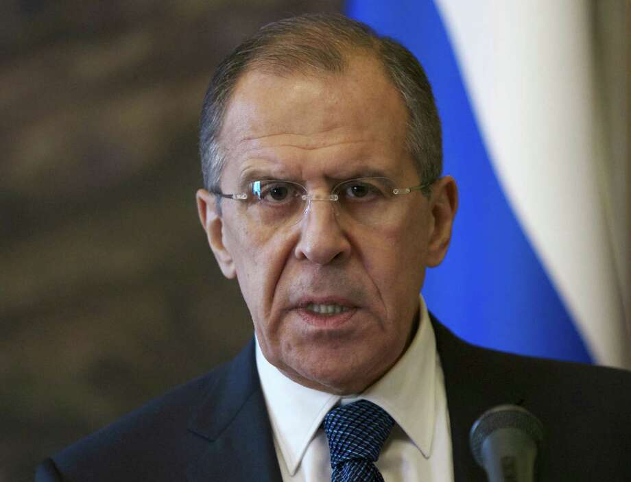 Russia Foreign Minister Sergey Lavrov says Syria's main Western-backed opposition group won't negotiate. More than 100,000 have died in the Syrian conflict. Photo: Alexander Zemlianichenko / Associated Press