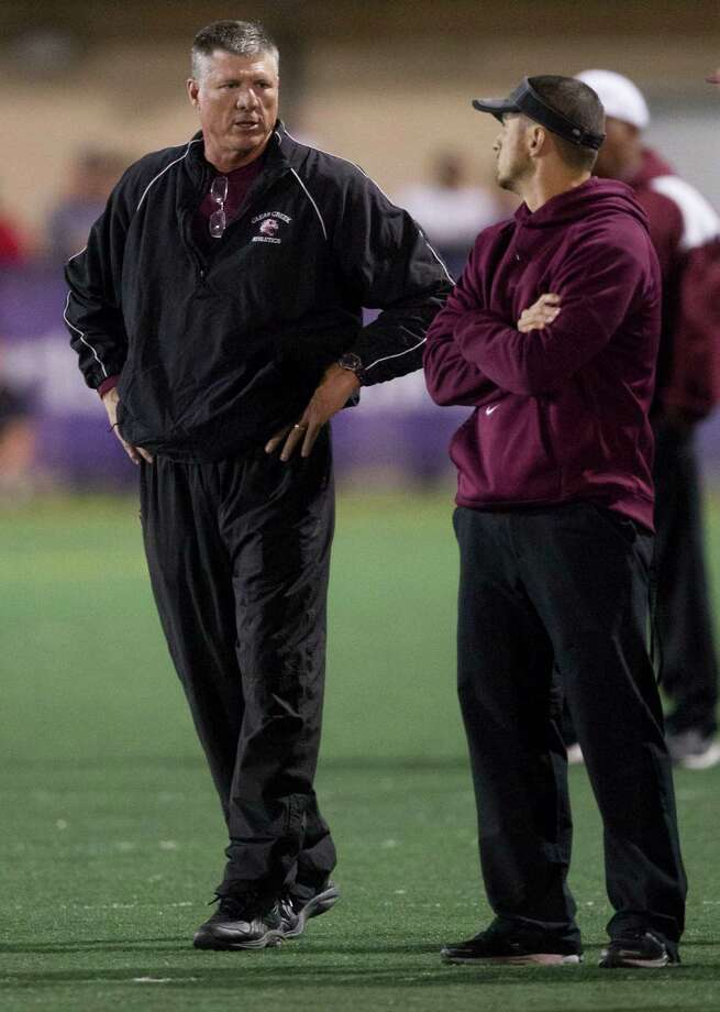 Clear Creek head coach Darrell Warden walks the sidelines during the second half of a high school football game against Clear Springs at CCISD Veterans Stadium on Saturday, Nov. 9, 2013, in League City. Photo: J. Patric Schneider, For The Chronicle / © 2013 Houston Chronicle