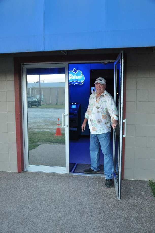 Jeff McCarson working the door on opening night at Mudbugs Pub and Club in Orange. Photo: Cat5