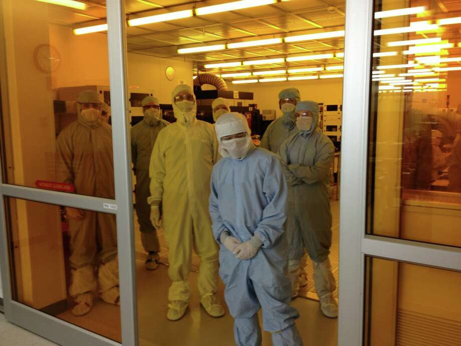 Students from Alfred State visit the SUNY College of Nanoscale Science and Engineering's Smart Systems Technology and Commercialization Center in Canandaigua. The facility specializes in micro sensors and other other devices in a lab once operated by Xerox, Kodak and Corning.