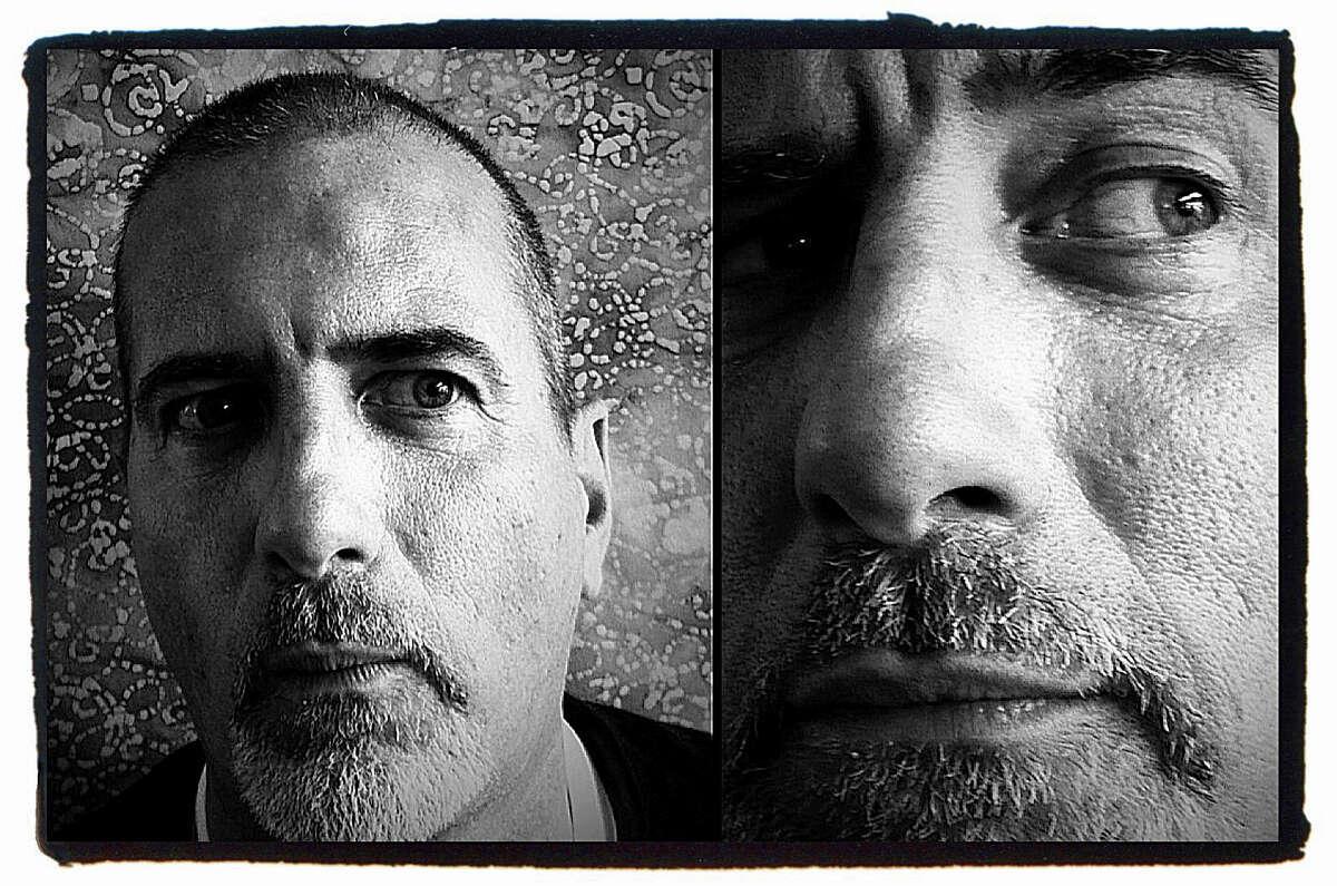 San Antonio photographer Rick Hunter, asked to pose for photographer Billy Calzada's