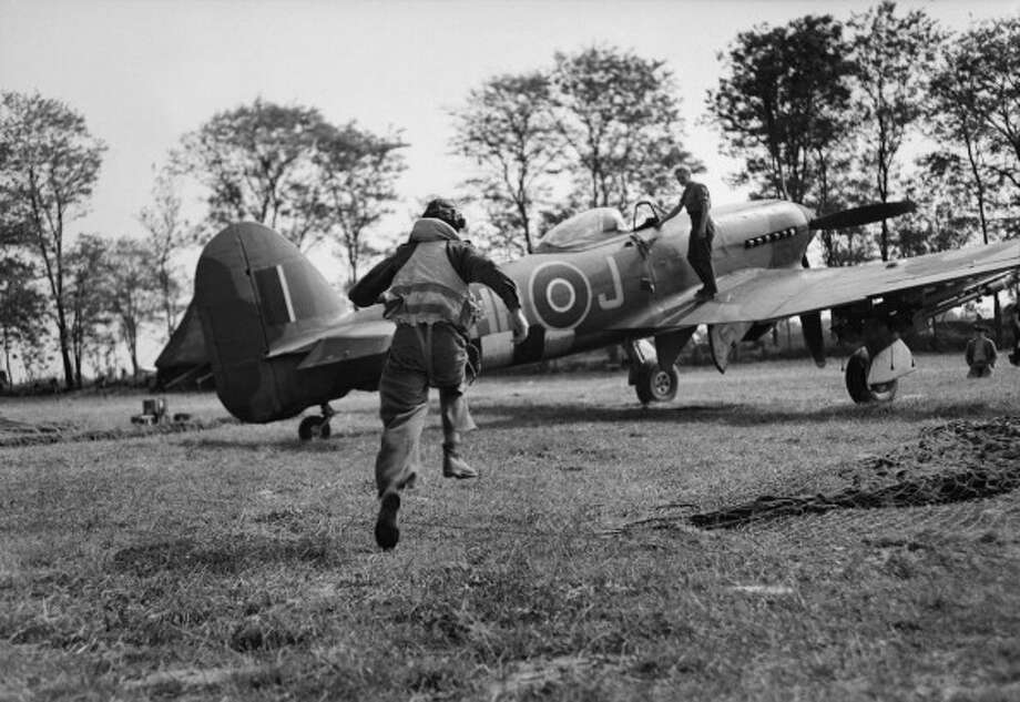 The Royal Air Force Hawker Typhoon Mark IB. Photo: IWM/Getty Images, Getty Images / IWM (CL 570)