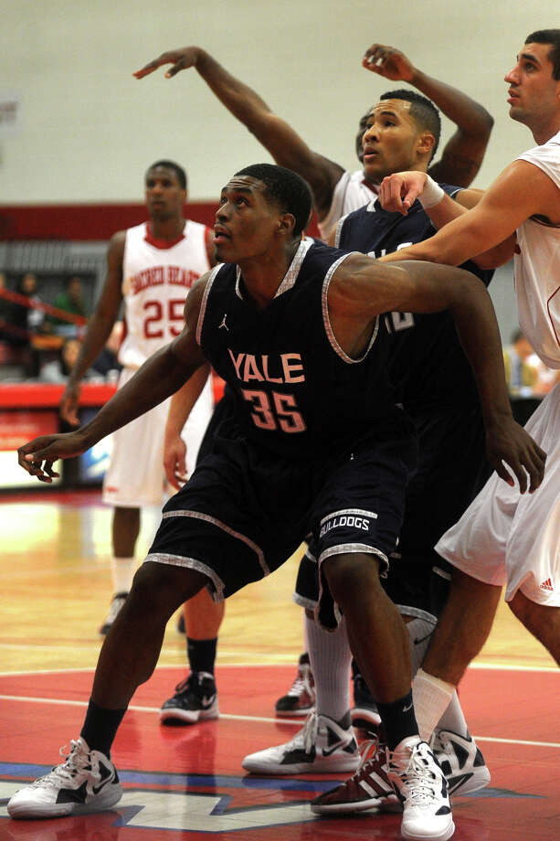 Yale's Brandon Sherrod during basketball action against Sacred Heart, at Sacred Heart University, in Fairfield, Conn. Dec. 5th, 2011. Yale defeated SHU 73-71. Photo: Ned Gerard / Connecticut Post