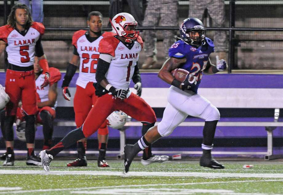 Northwestern State defeated Lamar 37-28 Saturday. Photo: Gary Hardamon