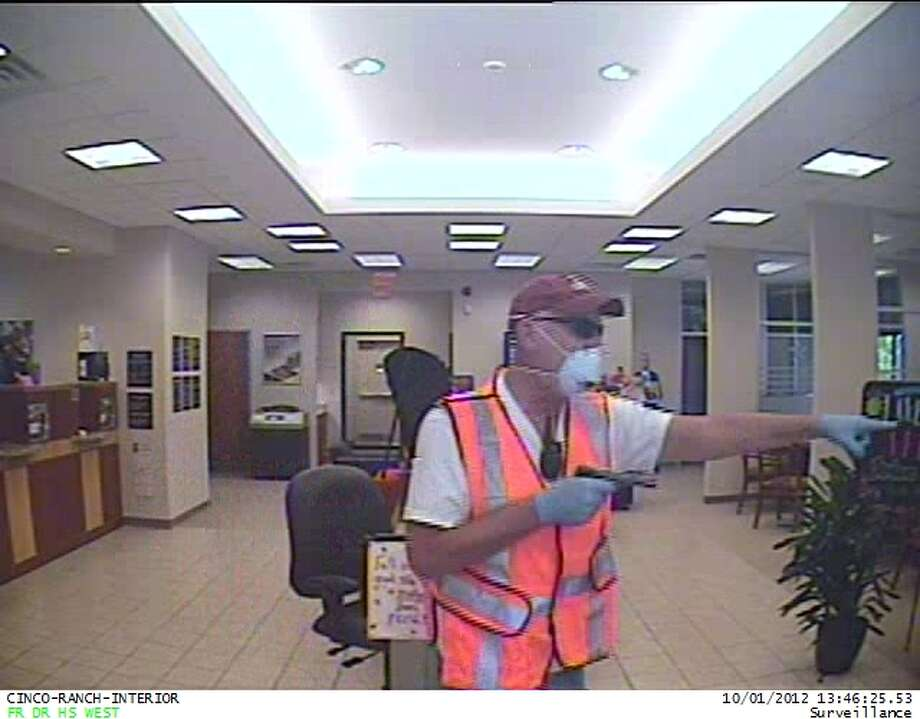 This photo of Ronald Scott Catt was taken in October 2012 by a surveillance camera in the First Community Credit Union in the Katy area. Photo: --