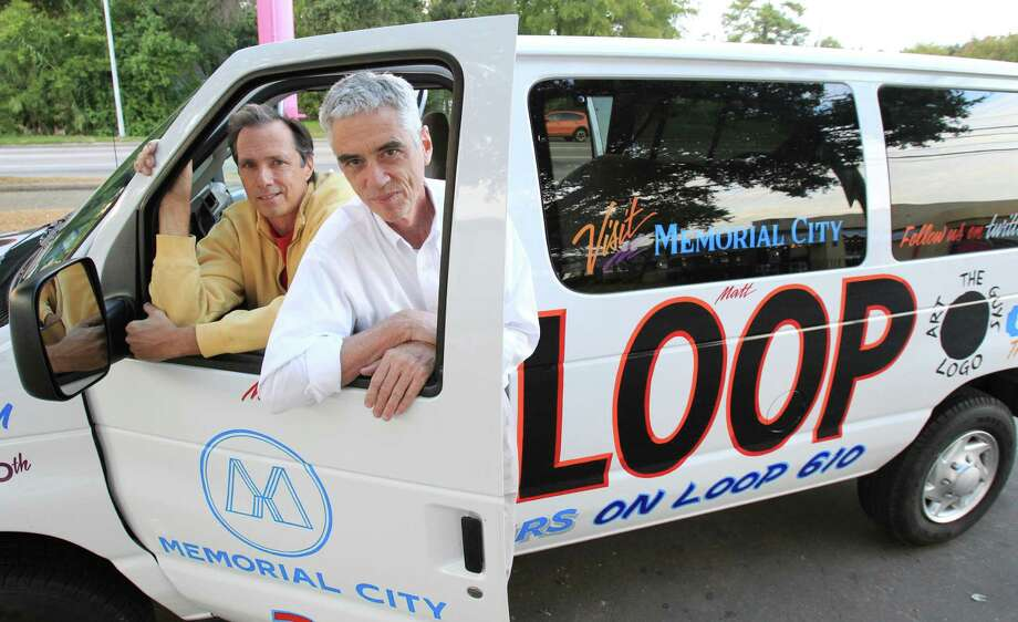 The Art Guys, Jack Massing and Michael Galbreth, are circling Houston's Loop 610 in a special van. Photo: Mayra Beltran, Staff / © 2013 Houston Chronicle