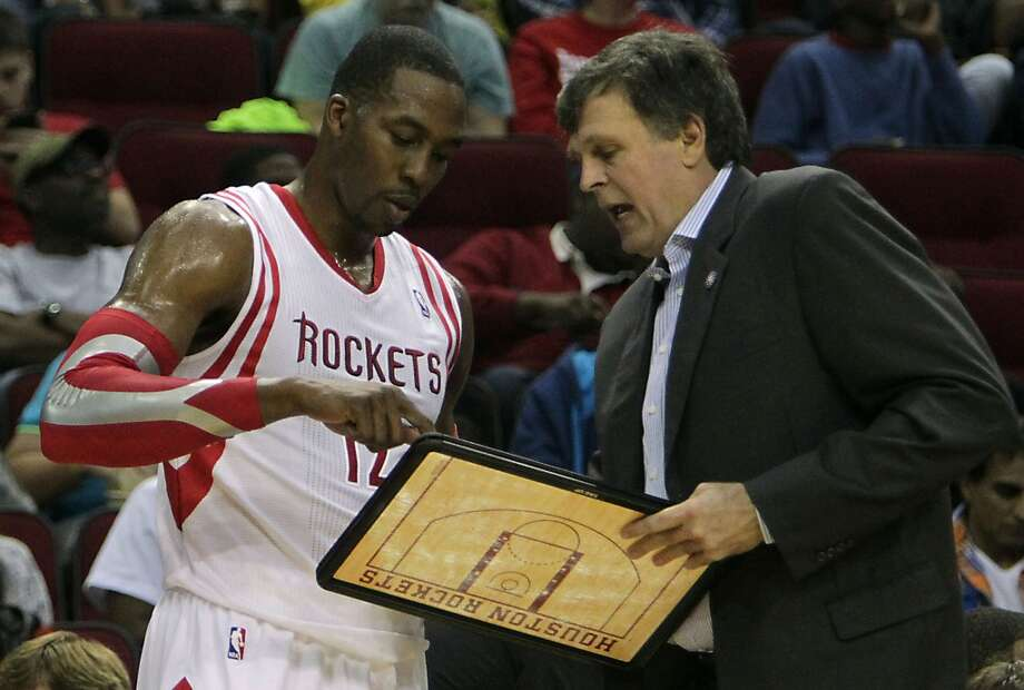 Rockets center Dwight Howard and Rockets head coach Kevin McHale. Photo: James Nielsen, Houston Chronicle