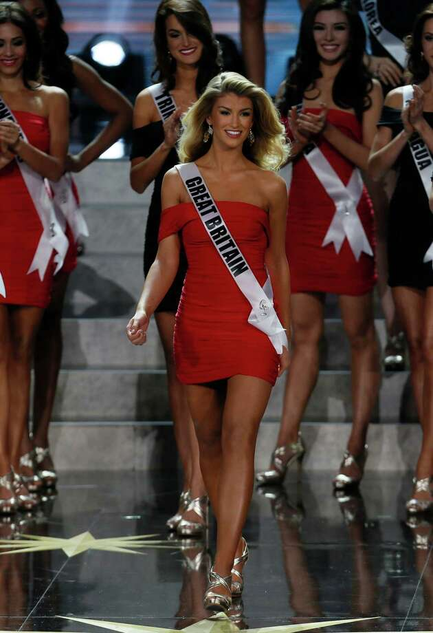 Miss Great Britain Amy Willerton participates in the 2013 Miss Universe pageant in Moscow, Russia, on Saturday, Nov. 9, 2013. Photo: Pavel Golovkin, AP / AP