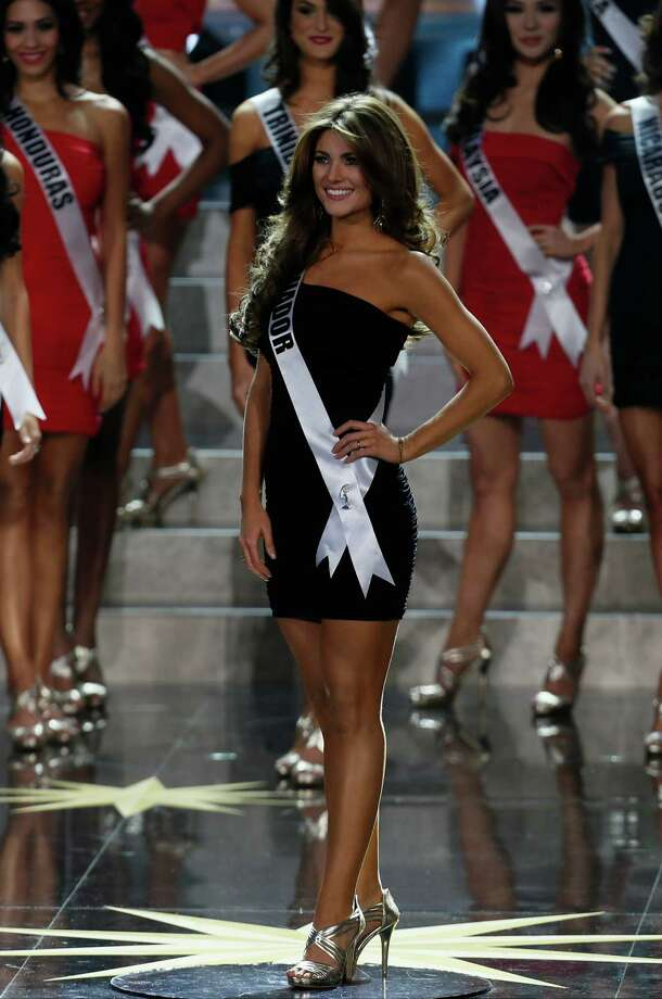 Miss Ecuador Constanza Baez participates in the 2013 Miss Universe pageant in Moscow, Russia, on Saturday, Nov. 9, 2013. Photo: Pavel Golovkin, AP / AP