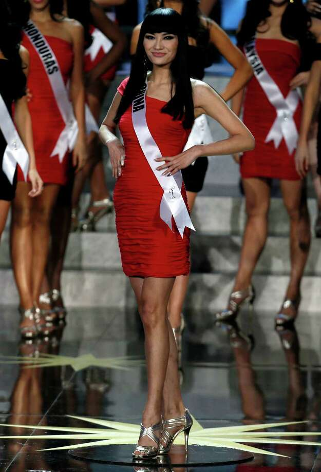 Miss China Jin Ye participates in the 2013 Miss Universe pageant in Moscow, Russia, on Saturday, Nov. 9, 2013. Photo: Pavel Golovkin, AP / AP