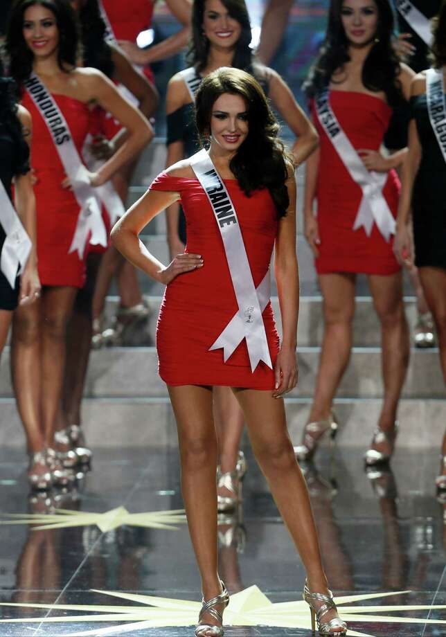 Miss Ukraine Olga Storozhenko participates in the 2013 Miss Universe pageant in Moscow, Russia, on Saturday, Nov. 9, 2013. Photo: Pavel Golovkin, AP / AP