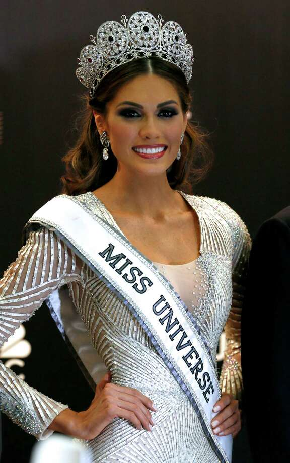 Miss Universe 2013 Gabriela Isler, from  Venezuela, poses for a photo after winning the 2013 Miss Universe pageant in Moscow, Russia, on Sunday, Nov. 10, 2013. Photo: Ivan Sekretarev, AP / AP